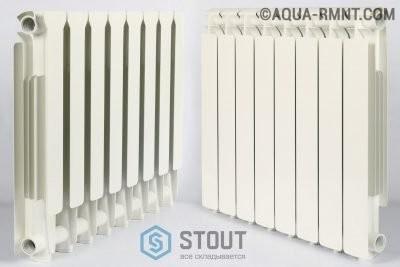 Алюминиевый радиатор отопления STOUT на 8 секций