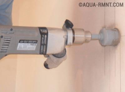 Сверление отверстия под вентиляционный канал