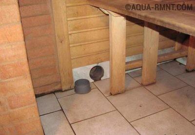 Вентиляционное отверстие с вытяжным коробом