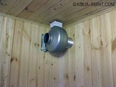 Принудительная вентиляция в бане