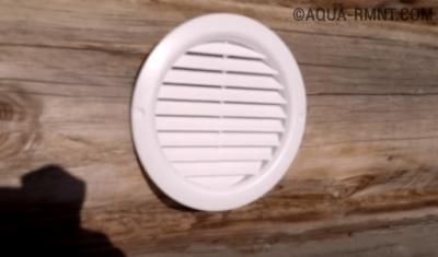 Крепление вентиляционной решётки в бане