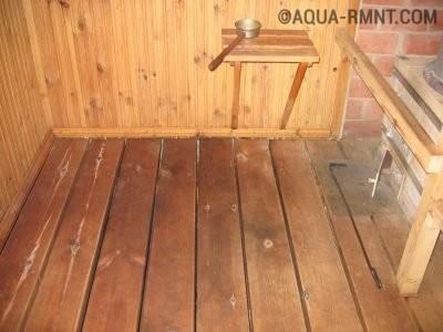Вентиляционные отверстия в полу бани