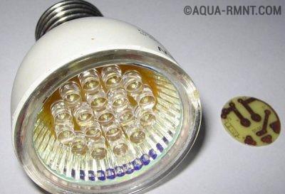Готовая светодиодная лампа с самодельным драйвером
