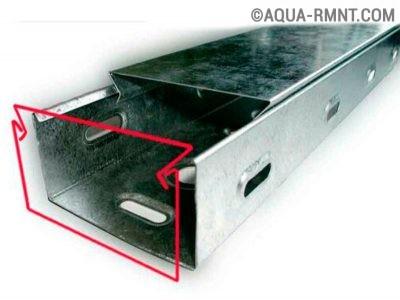 Металлический электротехнический короб