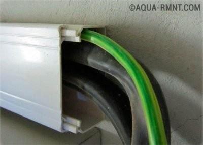 Прокладка кабелей в коробе
