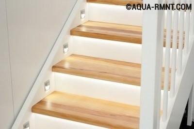 Декоративное освещение лестницы