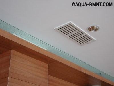 Диффузор на потолке в помещении