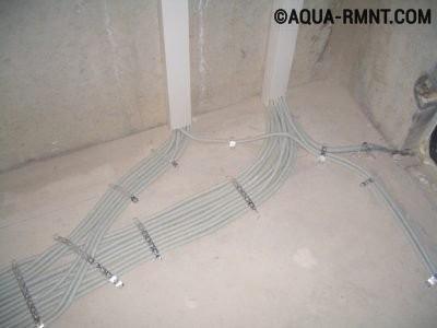 Электропроводка в стяжке
