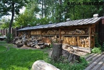 Хранение дров под навесом