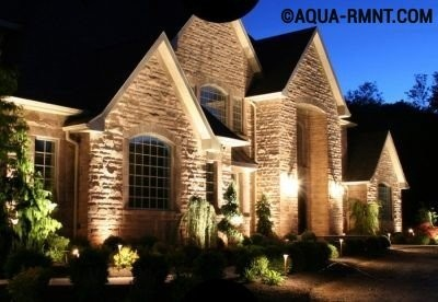 Концептуальное освещение загородного дома
