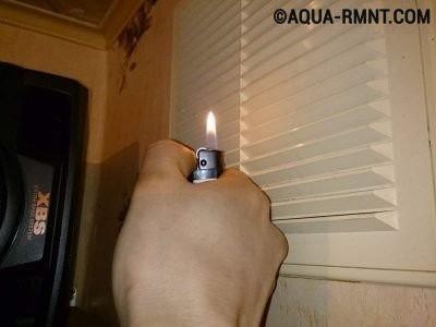 Небезопасный способ контроля работы вентиляции