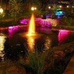 Разноцветная подсветка водоёма