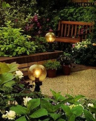 Непрозрачные садовые светильники
