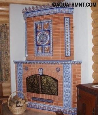 Печь с комбинированной облицовкой