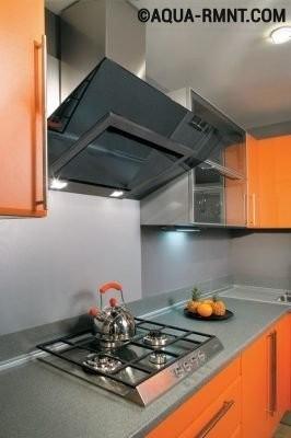 Открытая вытяжка на кухне