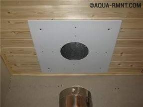 Отверстие для дымохода в потолке