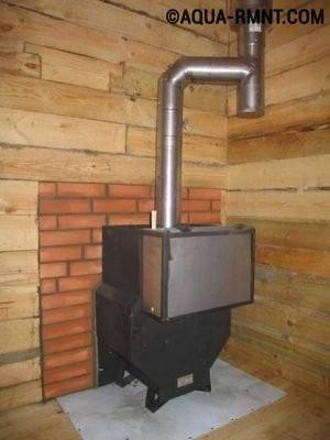 Печь с металлическим дымоходом