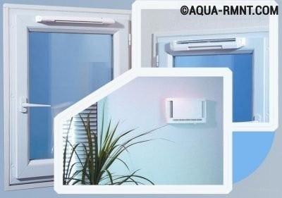 Приточные щели в окне