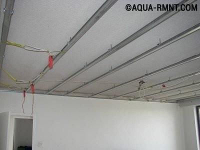 Проводка в подвесном потолке