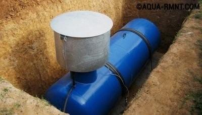 Система отопления на сжиженном газе из газгольдера