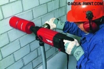 Сверление вентиляционного отверстия
