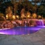 Подсветка бассейна и водопада