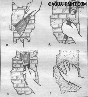 Устранение трещин в штукатурке