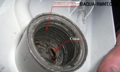 Резьба соединения биметаллического радиатора