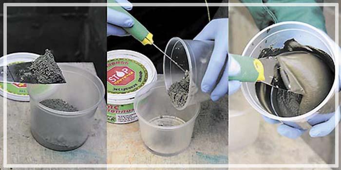 Приготовление гидропломбы