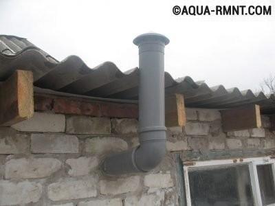 Вентиляционная труба с «зонтиком»