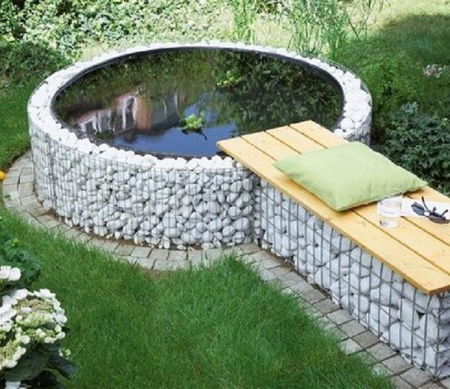 Бассейн из покрышки с зоной отдыха
