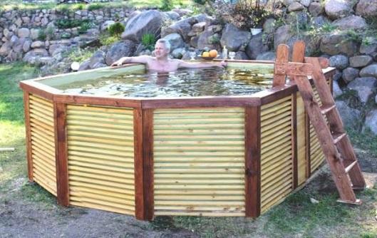 Готовый бассейн с отделкой