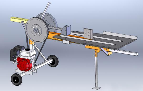 Модель механического дровокола
