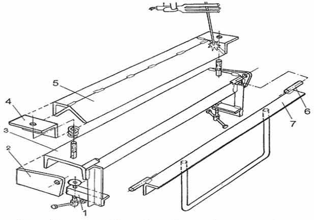 Схема листогибочного станка для изготавления своими руками