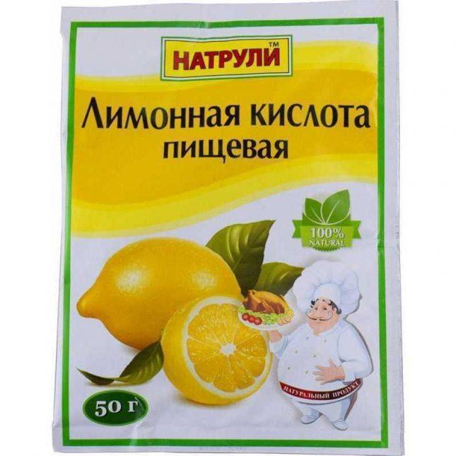Пакет пищевой лимонной кислоты