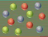 оптическая иллюзия с шариками