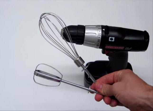 Использование насадок для миксера с шуруповёртом