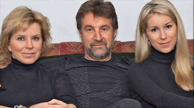 Леонид Ярмольник с женой и дочерью