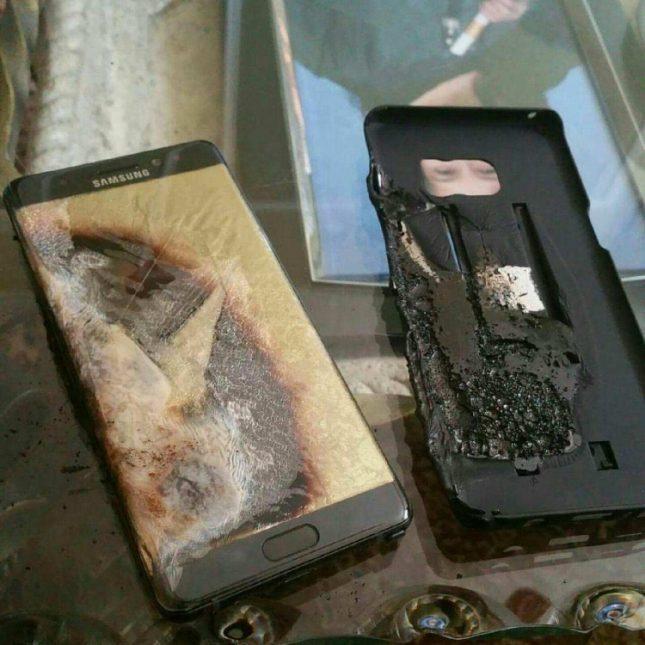 samsung note 7 после взрыва