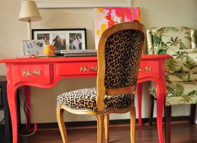 леопардовый стул