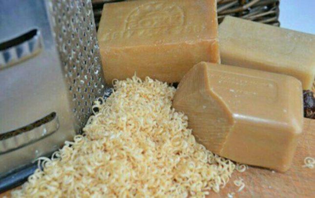 Натертое хозяйственное мыло
