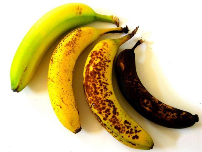 Бананы разной зрелости