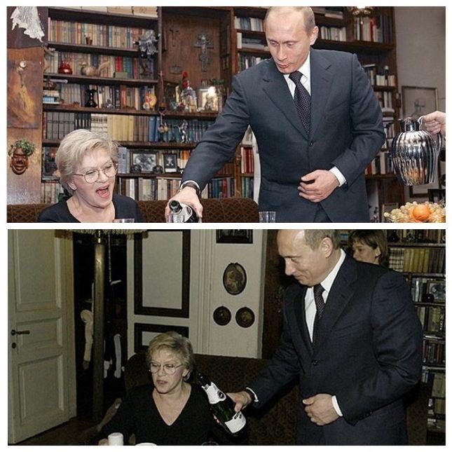 Алиса Фрейндлих и Владимир Путин