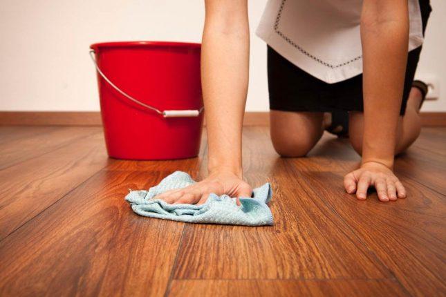 Мытьё полов полотенцем