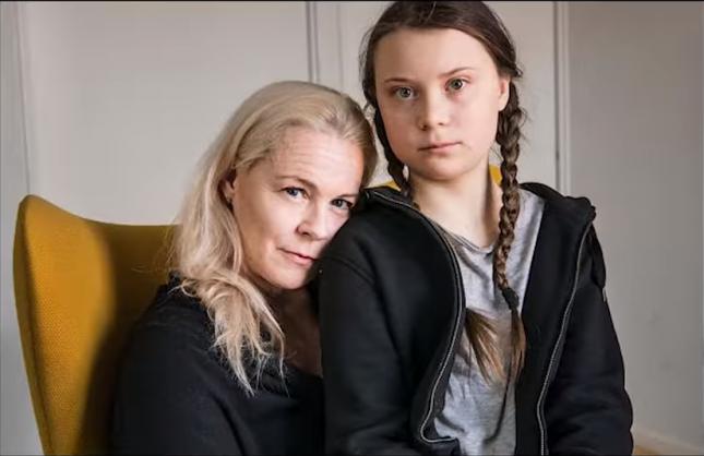 Грета Тунберг и её мама Малена Эрнман