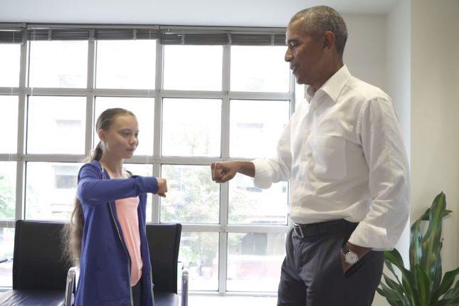 Грета Тунберг и Барак Обама