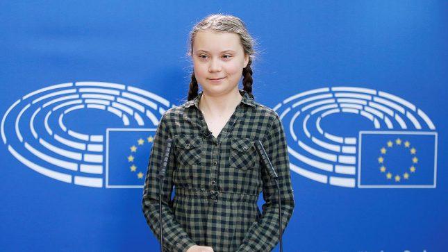 Грета Тунберг в Европарламенте