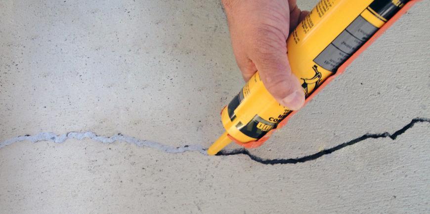 Герметизация – способ устранения трещин в бетоне